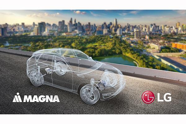 LG จับมือเม็กนา เตรียมผลิตระบบมอเตอร์รถยนต์ไฟฟ้า