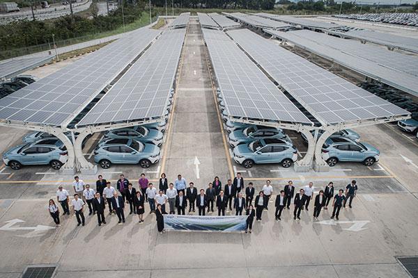 เอ็มจี ผนึก WHAUP เปิด Solar Carpark ใหญ่สุดในไทย